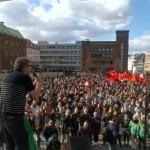 Antifascists humiliate EDL's cronies in Aarhus, Denmark